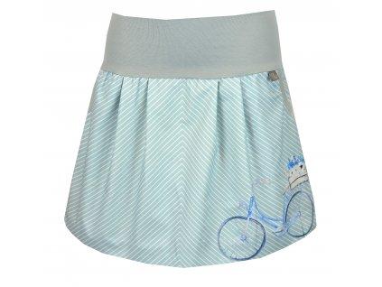 Sukně - modré kolo - rovná