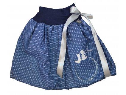 Dětská sukně - jeans puntík - malý princ