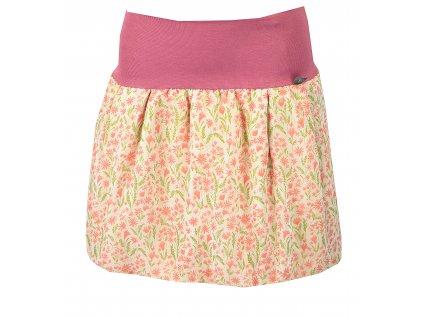 Balónová sukně - starorůžové drobné kvítí