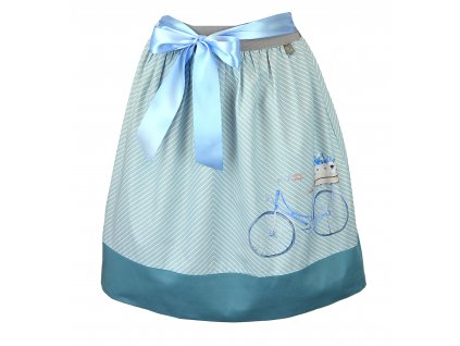 Sukně do pasu - modré kolo
