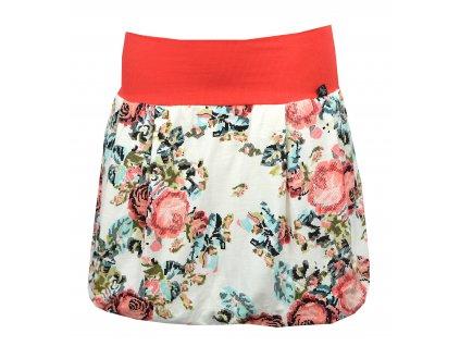 Balónová sukně - květy jako vyšité