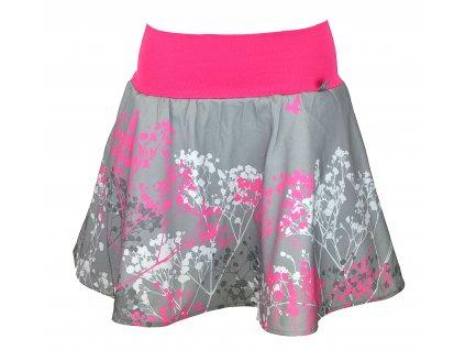 Půlkolová sukně - růžový nevěstin závoj