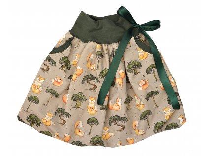 Dětská sukně - lištičky u stromku
