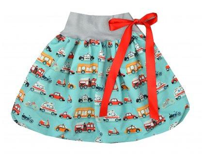 Dětská sukně - dopravní