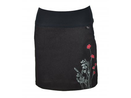 Pouzdrová sukně - luční kvítí