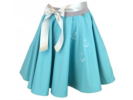 Kolová sukně - spuštěné kotvičky