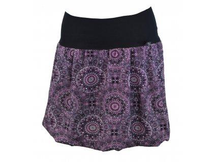 Balónová sukně - mandaly do fialkova