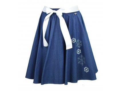 Kolová sukně - kormidla