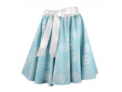Kolová sukně - do gumy - blankytné pampelišky