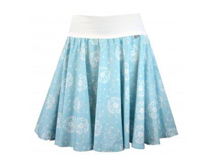 Kolová sukně - do nápletu - blankytné pampelišky