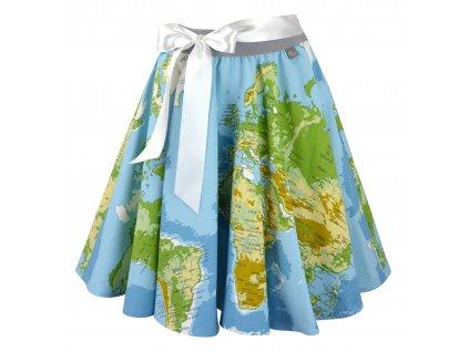 Kolová sukně - zeměkoule