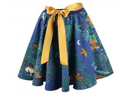 Kolová sukně - lesní zvířátka
