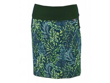 Pouzdrová sukně - zelené lístečky