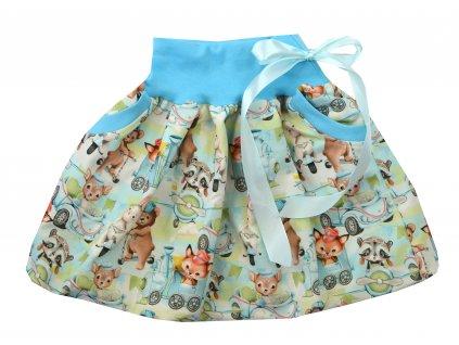 Dětská sukně - veselá zvířátka