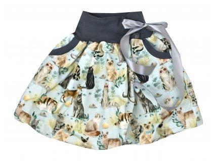 Dětská sukně - kočičí