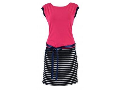 Šatovka s pouzdrovou sukní - kotvička a proužky