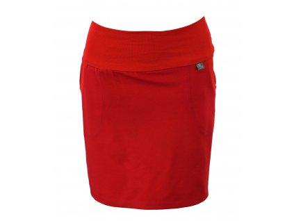 Pouzdrová sukně - červená