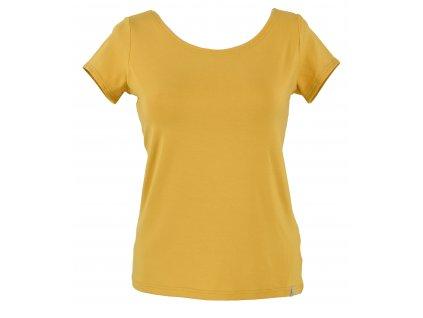 Volnější tričko - vanilkové