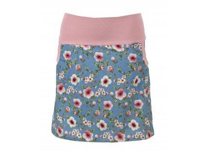 Pouzdrová sukně - třešňové květy