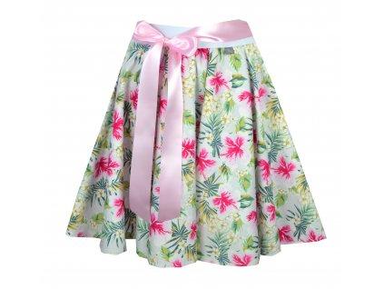Kolová sukně - tropická