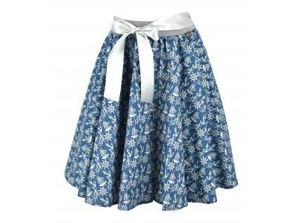 Kolová sukně - námořnická