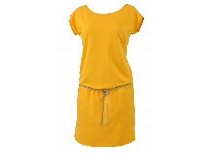 Šaty podkasané - žluté