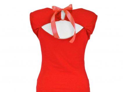 Šaty s průstřihem na zádech - červené