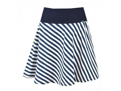 Půlkolová sukně - proužek