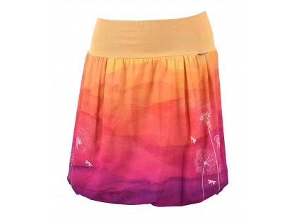 Balónová sukně - odkvetlé pampelišky - polyester