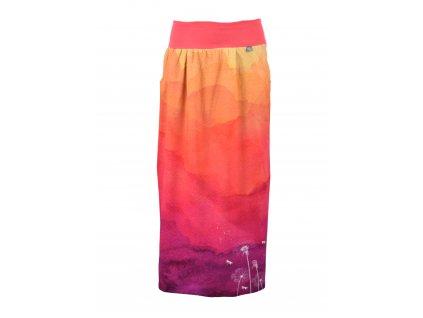 Maxi sukně - odkvetlé pampelišky