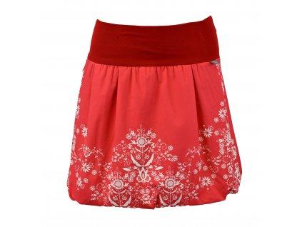 Balónová sukně - červený folklór