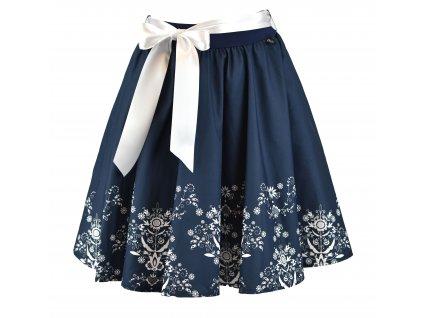Kolová sukně - do gumy - modrý folklór