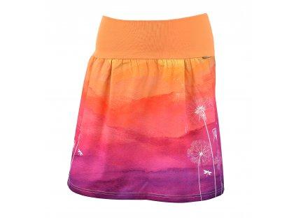 Rovná sukně - odkvetlé pampelišky