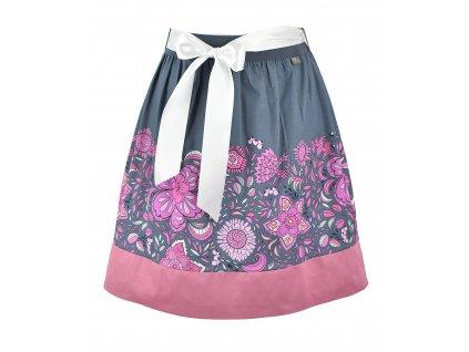 Sukně do pasu - hravé květy