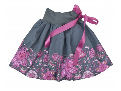 Dětská sukně - hravé květy