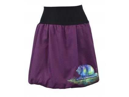 Balónová sukně - malovaná - pod ulitou