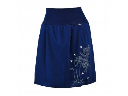 Balonová sukně modrá - světlušky v kapradí