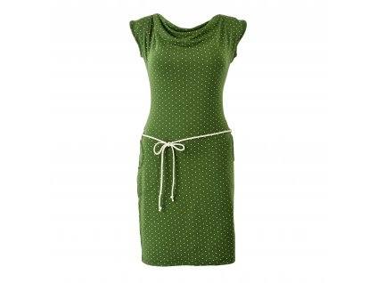 šaty s vodou zelené s puntíkem
