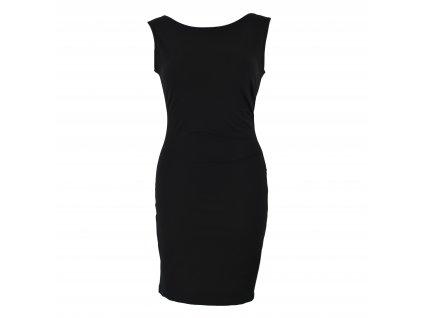 pouzdrové šaty se sklady černé