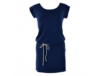 podkasané šaty tmavě modré