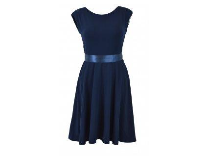 Půlkolové šaty - tmavě modré - II. jakost