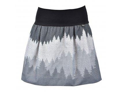 Balónová sukně - rovná - lesní stíny
