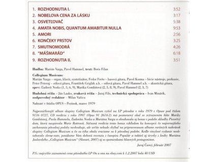 COLLEGIUM MUSICUM - On a ona - CD