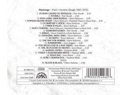 FLAMENGO - Paní v černém - singly 1967-1972 - CD