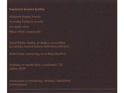 FIKRLE DAVID - Možnosti stonků - CD