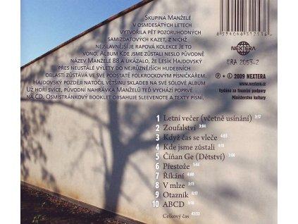 MANŽELÉ / HAJDOVSKÝ - Kde jsme zůstali - CD
