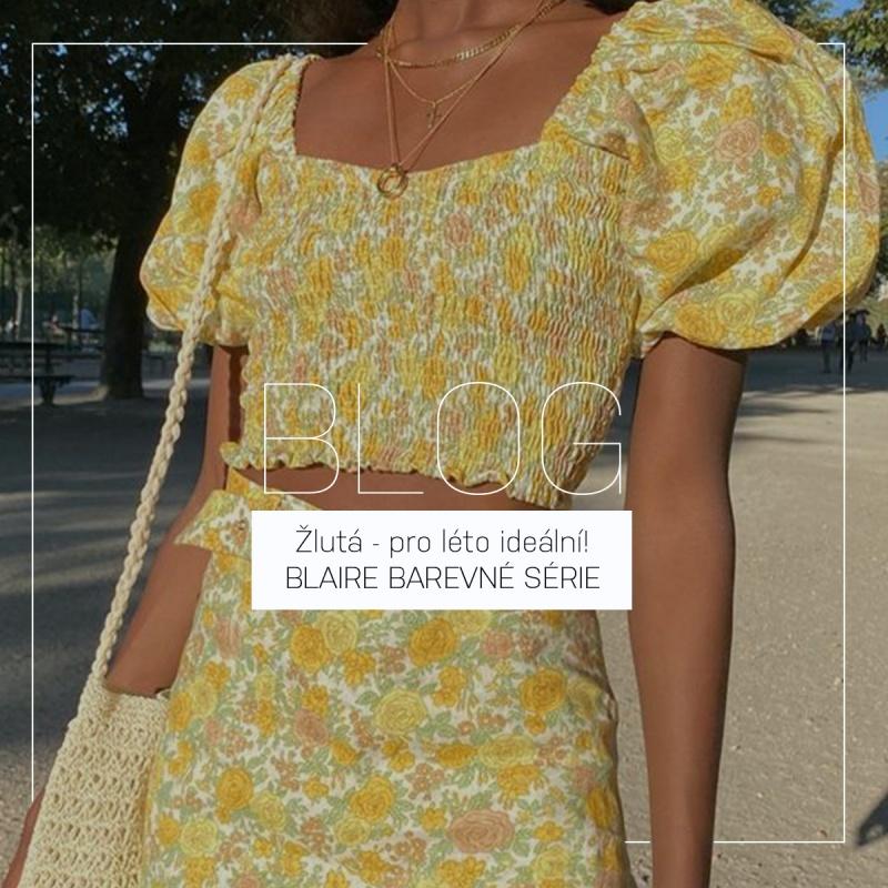 Rozzářené letní outfity - jak kombinovat žlutou | BLAIRE BAREVNÉ SÉRIE