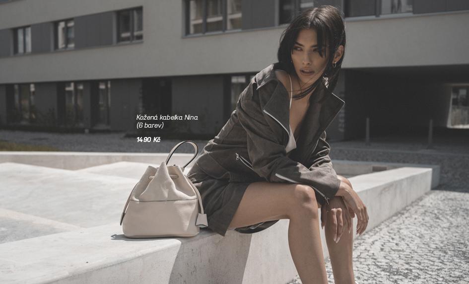 Kožená kabelka Nina