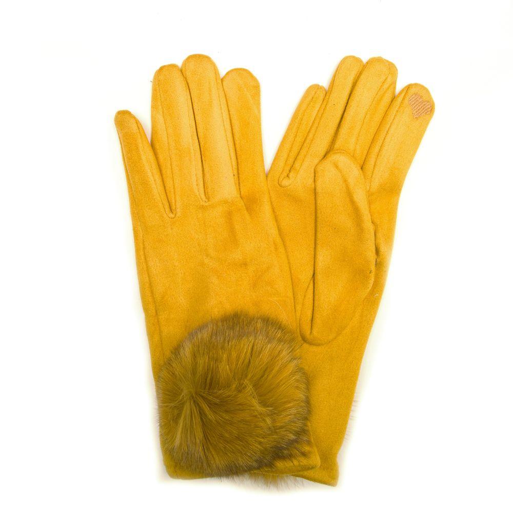Žluté rukavice