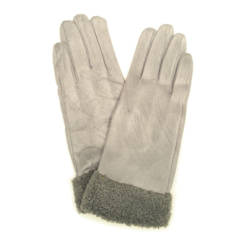 Šedé rukavice